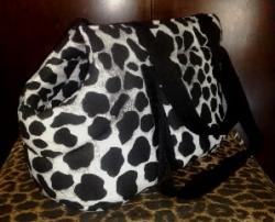 чанта бял леопард